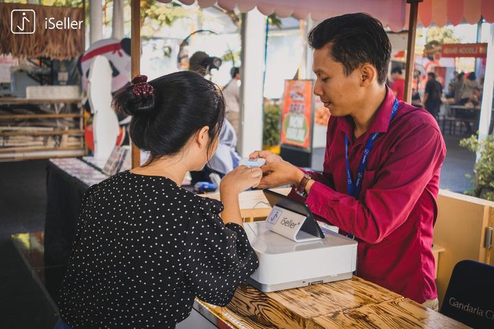 pembayaran kartu bisa di central cashier dengan POS iSeller